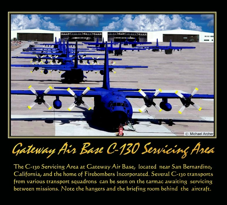 C-130 Servicing Area At Firebombers Incorporated's Gateway Airbase